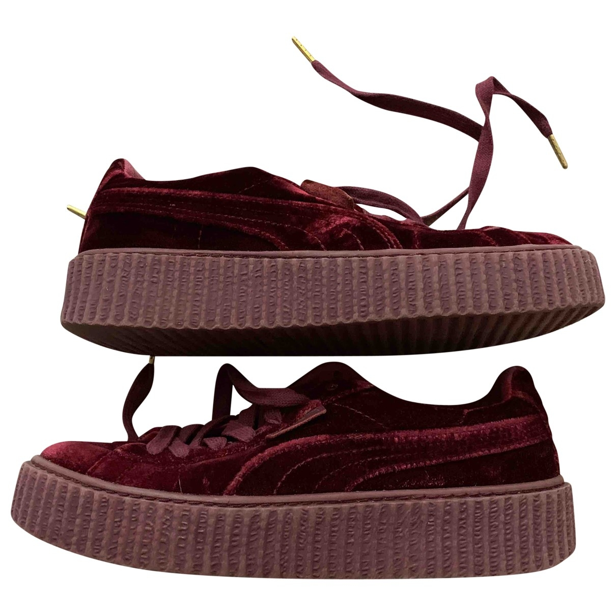 Fenty X Puma \N Burgundy Velvet Trainers for Women 40 EU