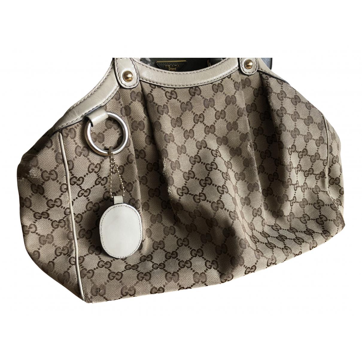 Gucci Sukey Beige Cloth handbag for Women N