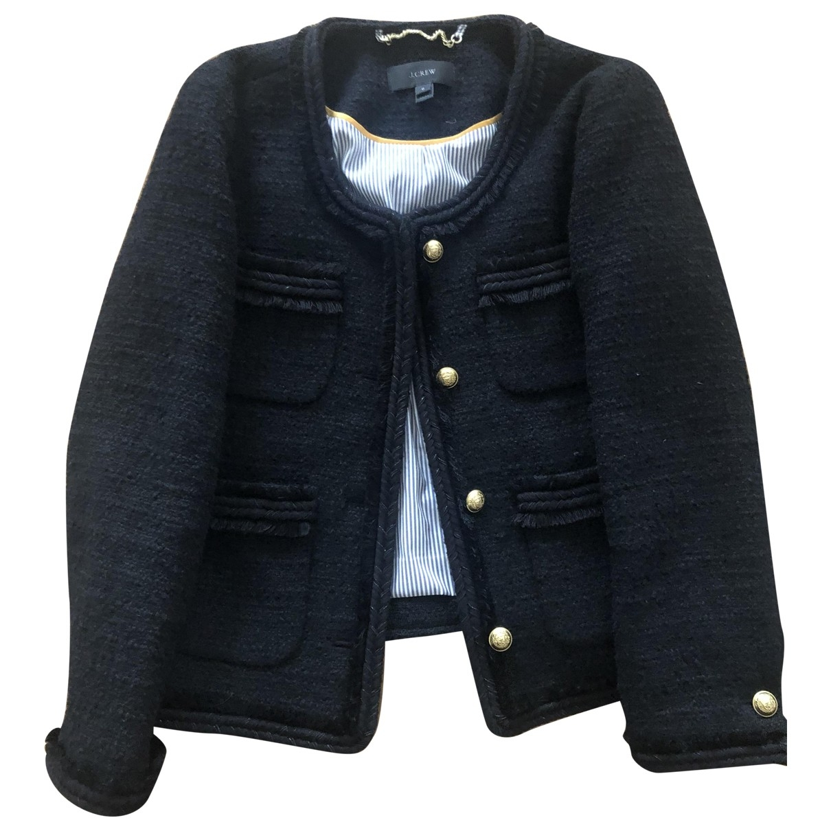 J.crew \N Navy Tweed jacket for Women 0 0-5