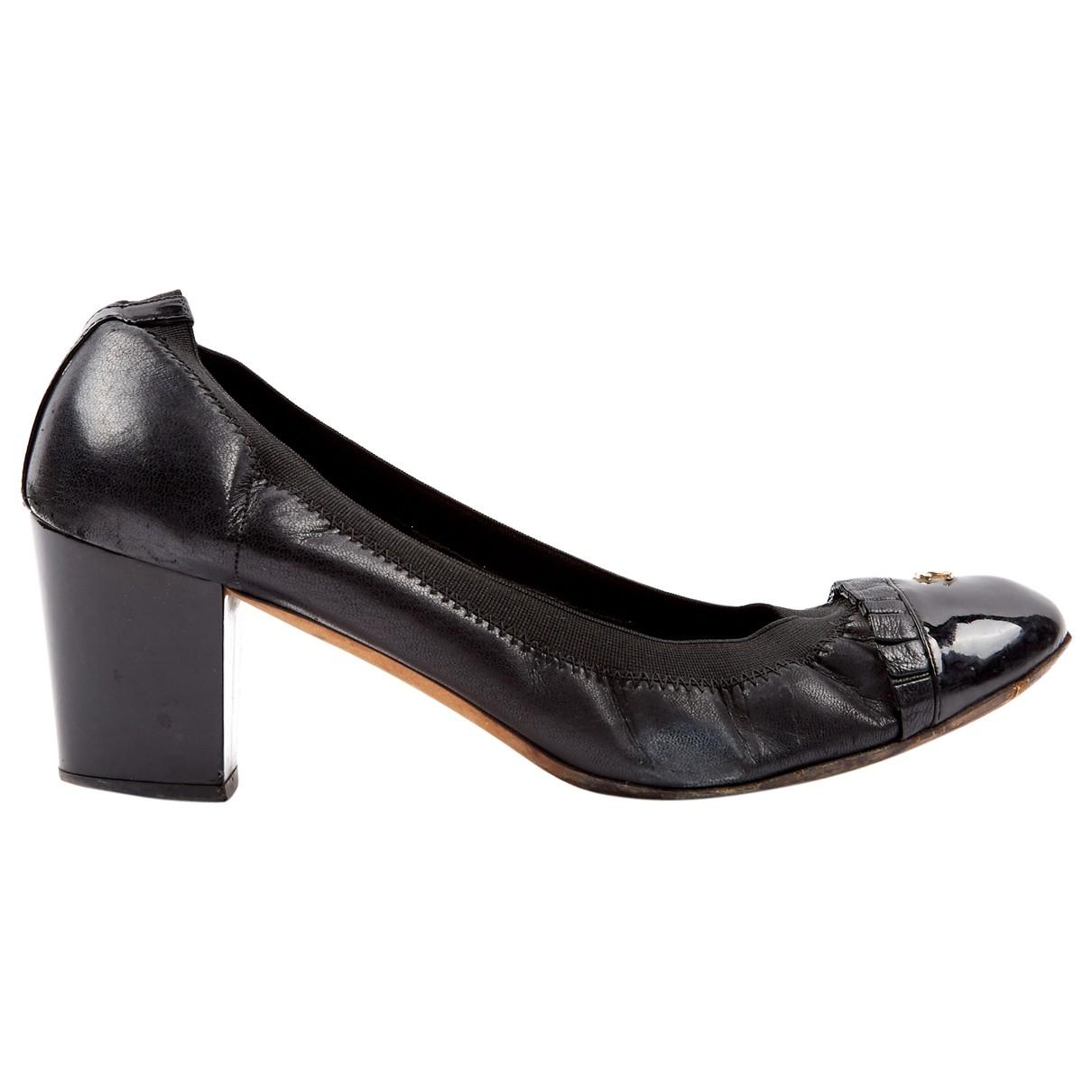 Chanel \N Black Leather Heels for Women 40.5 EU