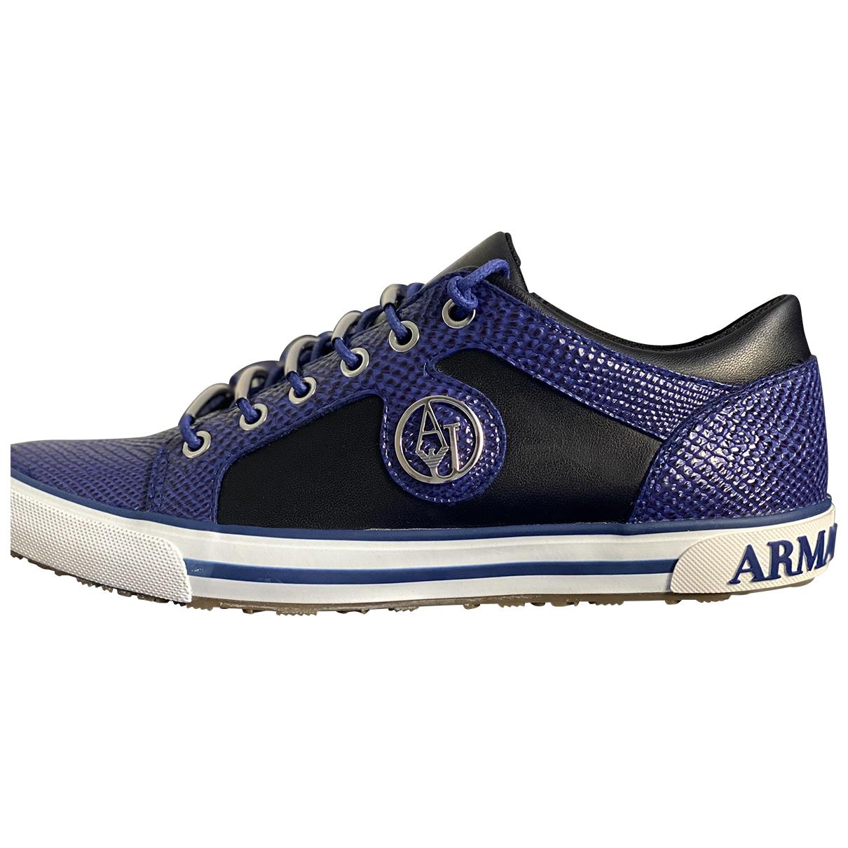 Armani Jean - Baskets   pour femme en caoutchouc - bleu