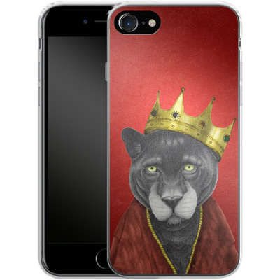 Apple iPhone 8 Silikon Handyhuelle - The King Panther von Barruf