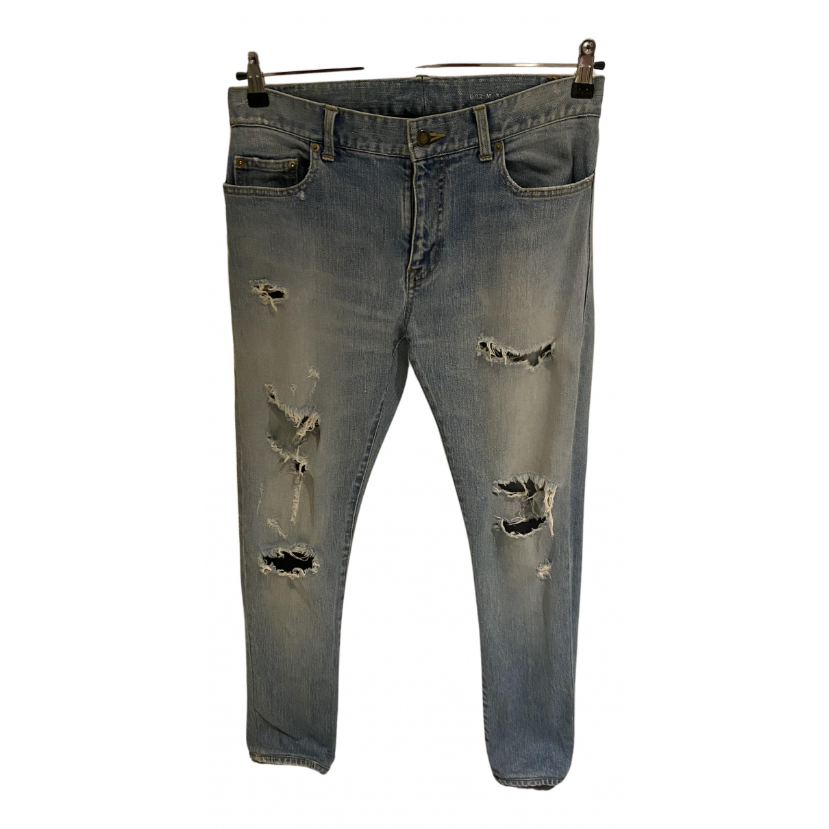 Saint Laurent N Blue Cotton Jeans for Men 32 US