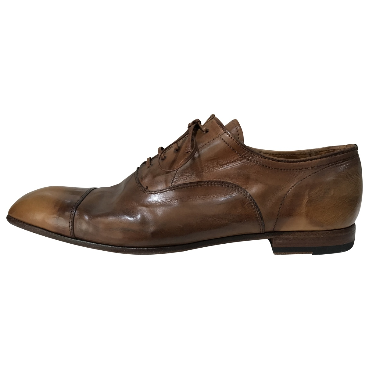 Officine Creative - Derbies   pour homme en cuir - marron