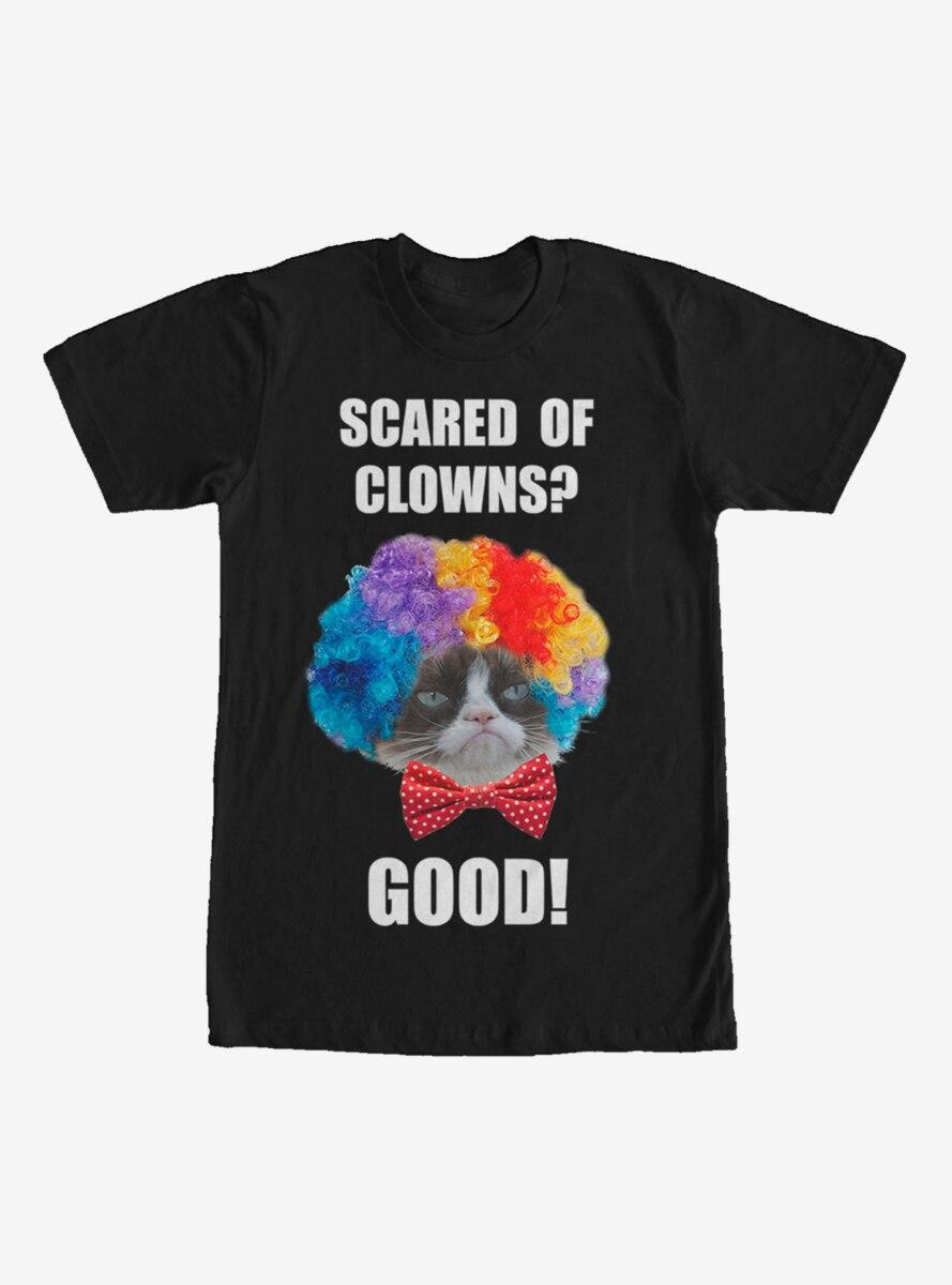 Grumpy Cat Scared of Clowns T-Shirt