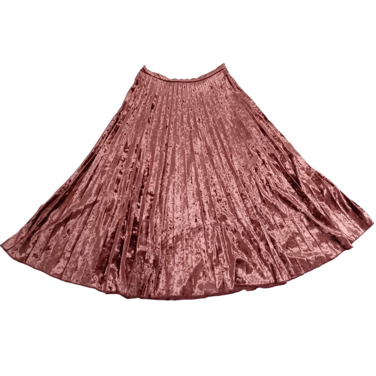 - Jupe   pour femme en velours - rose