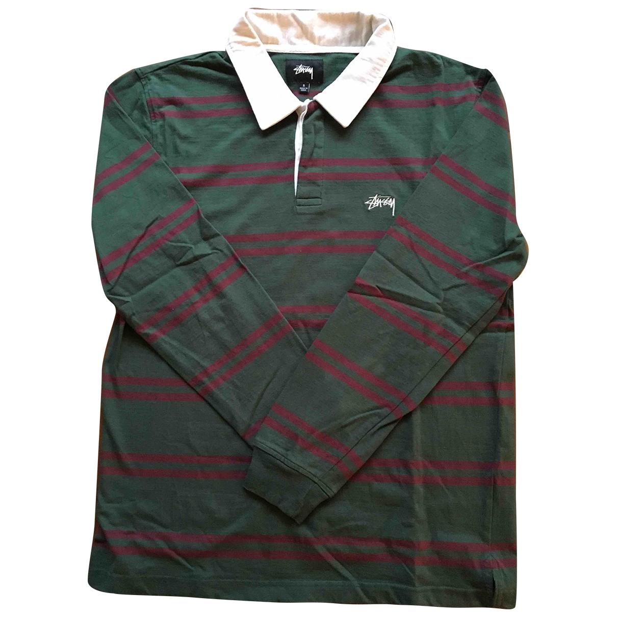 Stussy - Polos   pour homme en coton - vert