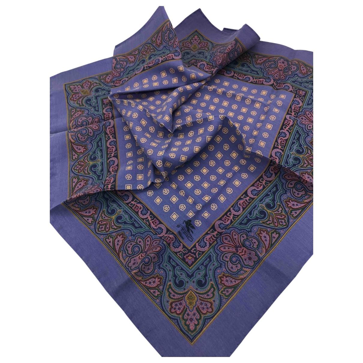 Etro \N Blue Silk Silk handkerchief for Women \N