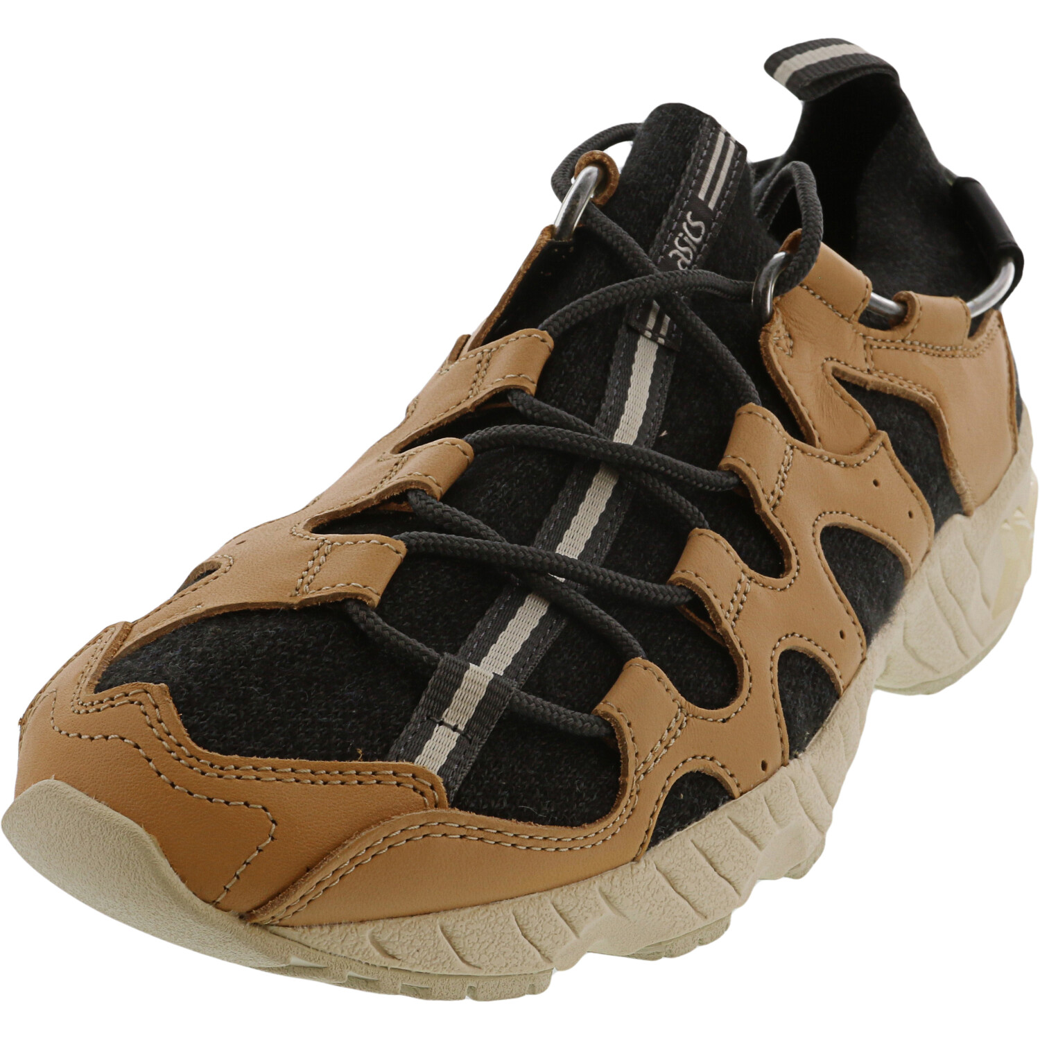 Asics Men's Gel-Mai Knit Carbon / Evening Sand Ankle-High Leather Sneaker - 7.5M