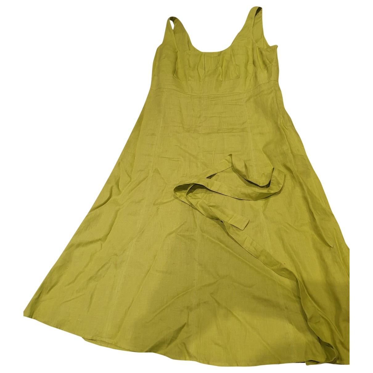 Max & Co - Robe   pour femme en lin - vert