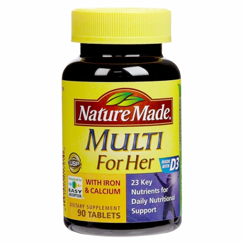 Multi Vit & Minerals for Women 90 Tabs by Nature Made