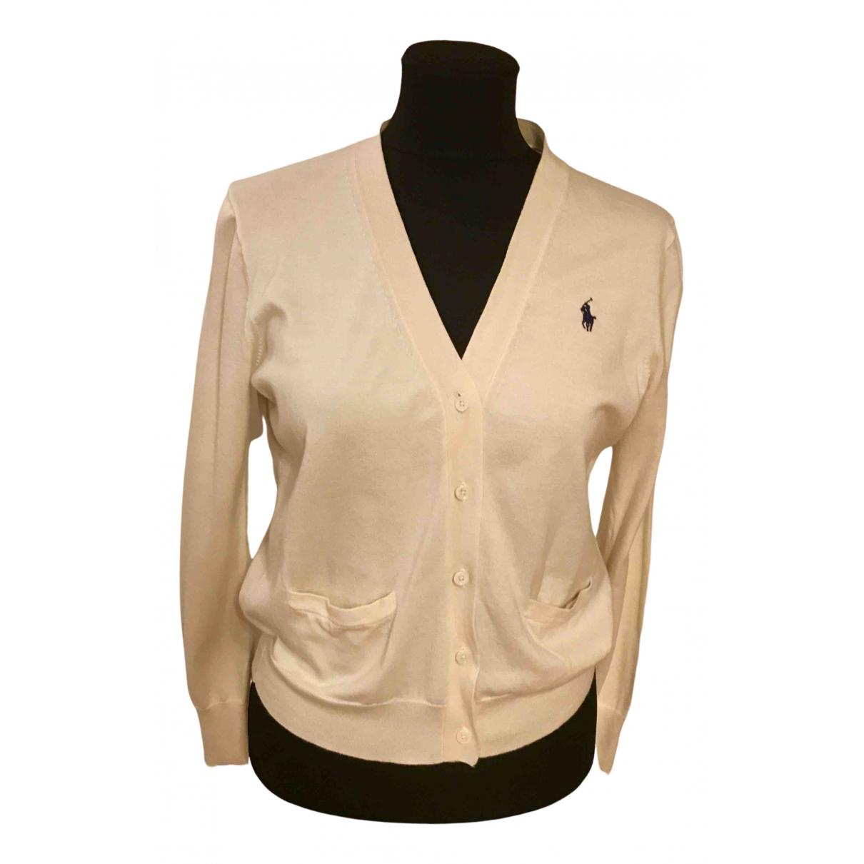 Polo Ralph Lauren - Pull   pour femme en coton - jaune