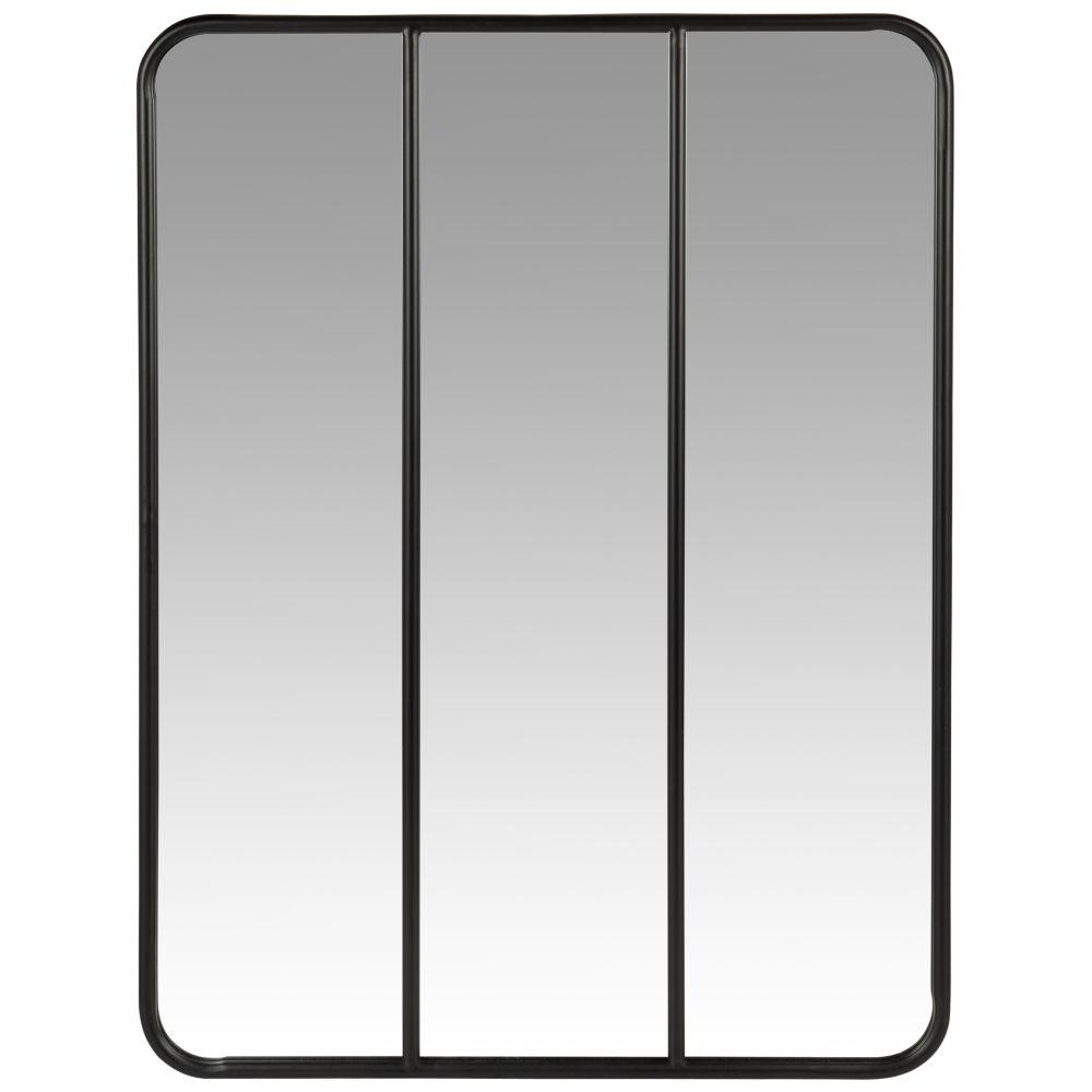 Spiegel mit schwarzem Metallrahmen 60x81