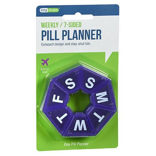 Ezy-Dose 7-Day 7-Sided Pill Reminder Medium 1 each by Ezy-Dose