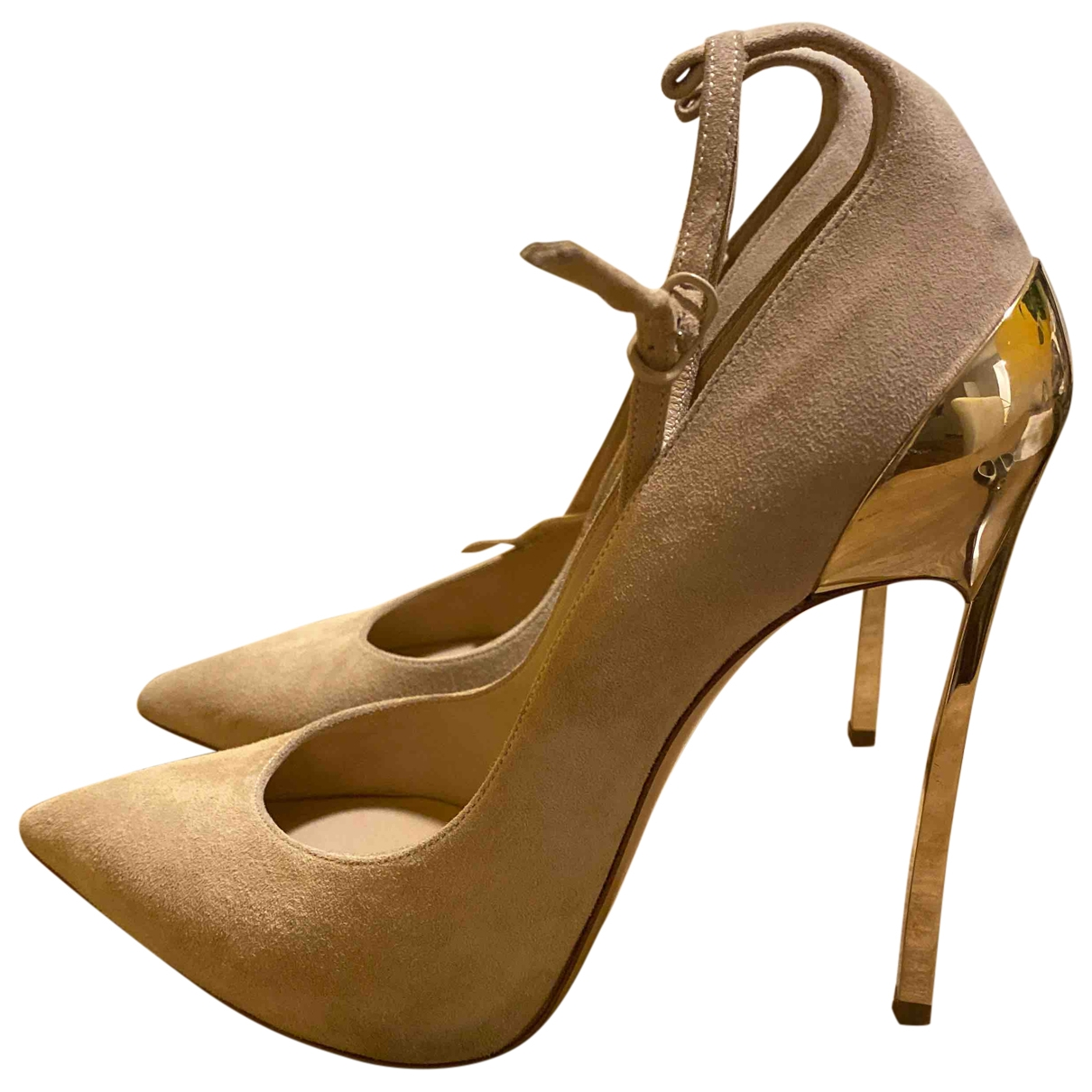 Casadei \N Pumps in  Beige Veloursleder