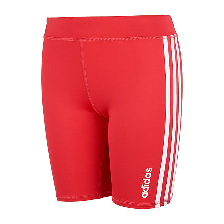 adidas Big Girls Bike Short, Medium (10-12) , Pink