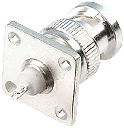 TE Connectivity , Greenpar Straight 50Ω Flange MountBulkhead Fitting BNC Connector, Plug, Silver, Solder Termination