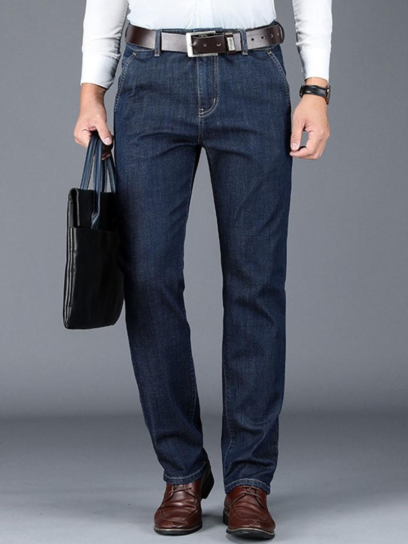 Ericdress Straight Plain Pocket High Waist Men's Jeans