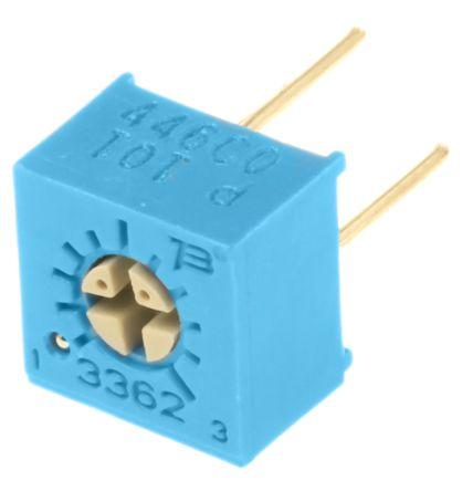 Bourns 100Ω, Through Hole Trimmer Potentiometer 0.5W Top Adjust , 3362