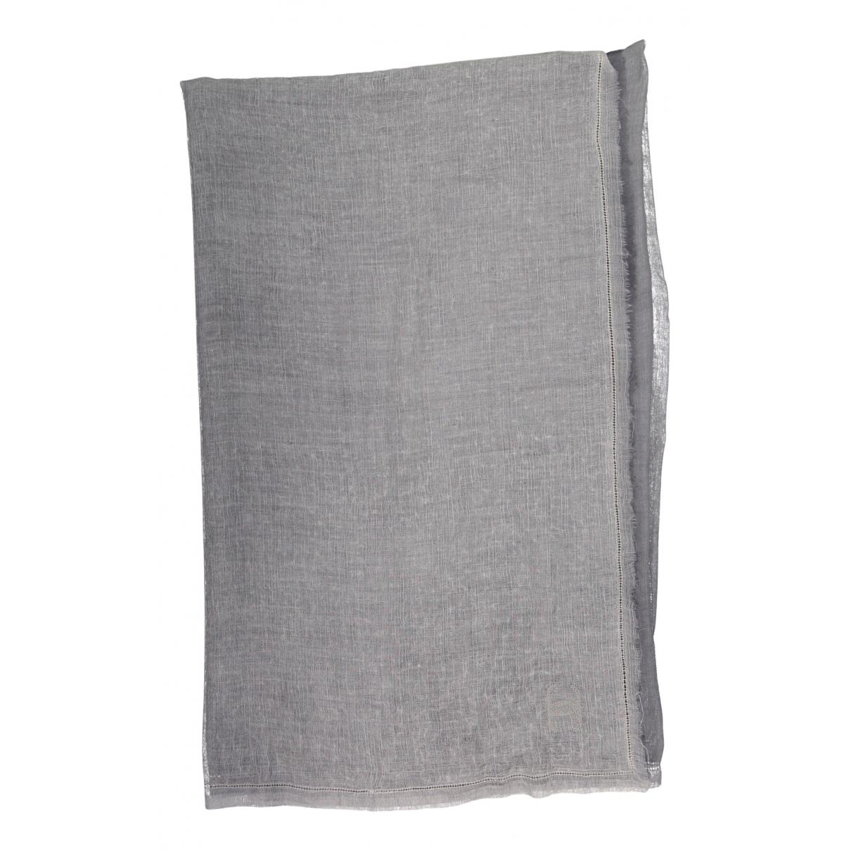 Chanel \N Schal in  Grau Seide