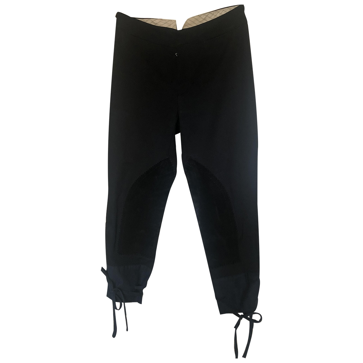 Prada \N Black Wool Trousers for Women 38 IT