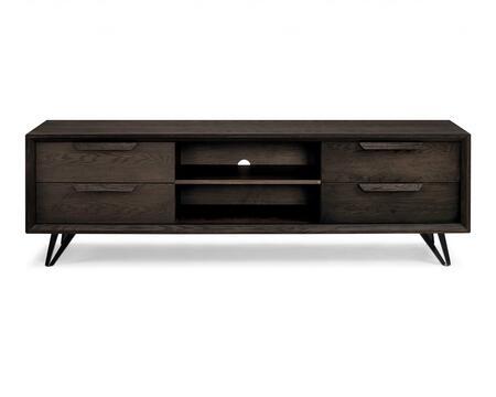 320795 TV Unit Oak Veneer4 Drawers Wash Gray Oak Veneer Metal