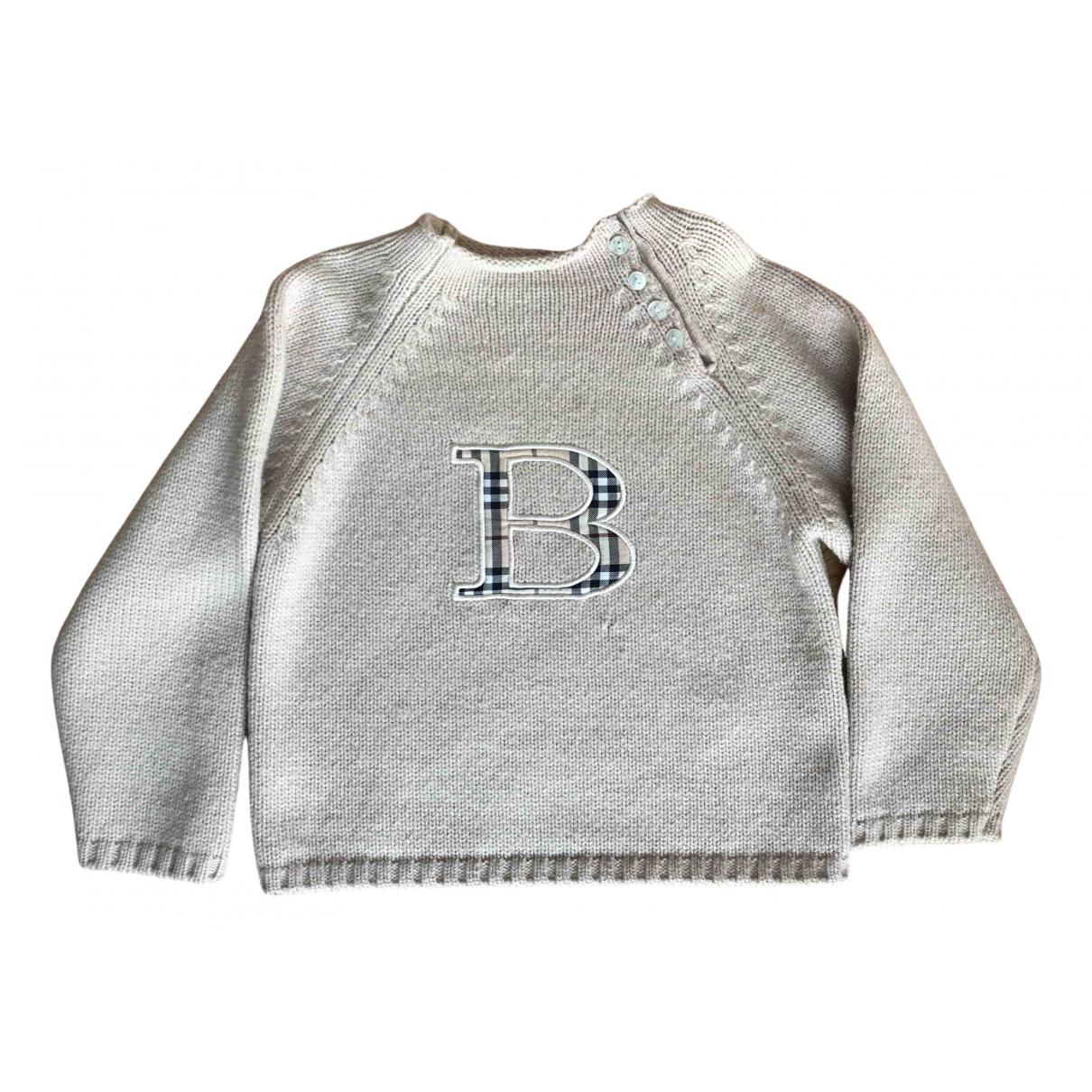 Burberry - Pull   pour enfant en laine - beige
