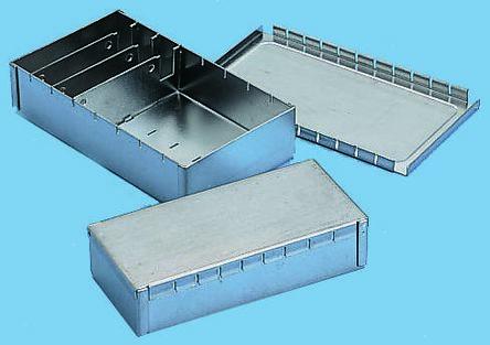 Teko Tin Plated Steel PCB Enclosure, 161 x 50 x 26mm