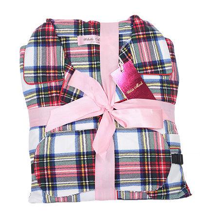 White Mark Womens-Plus Pant Pajama Set 3-pc. Long Sleeve, 1x , Red
