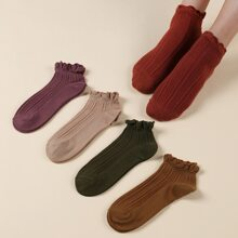 5 Paare Socken mit Bogenkante
