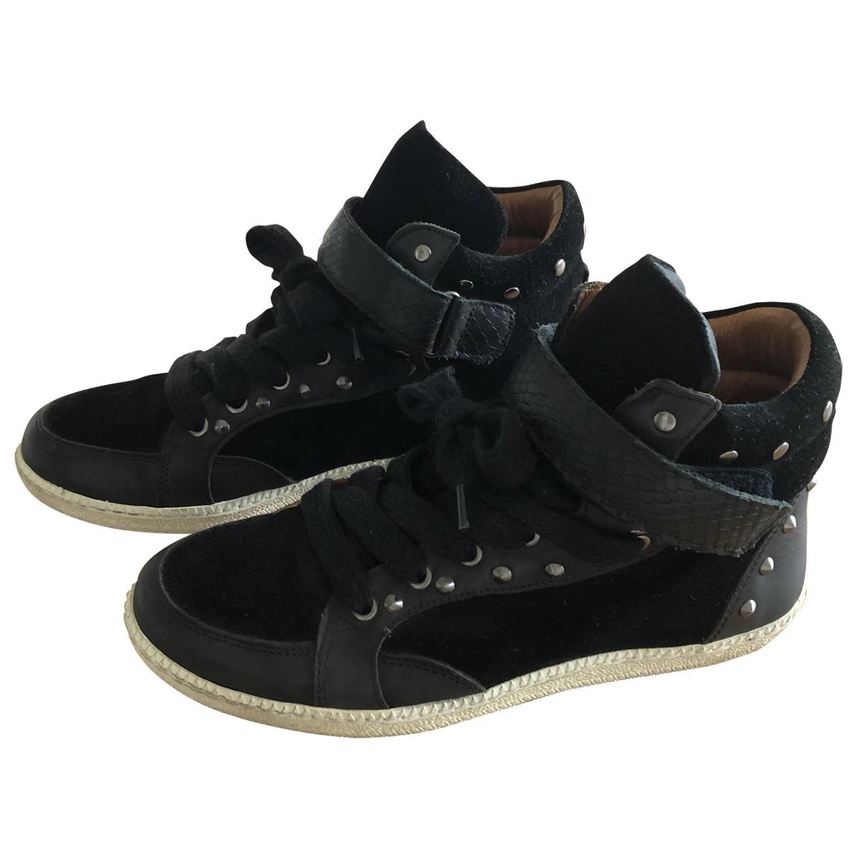 Comptoir Des Cotonniers \N Black Leather Trainers for Women 39 EU