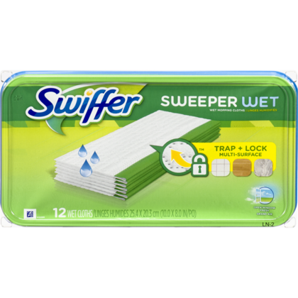 Swiffer Sweeper Wet Mopping Recharges 12 chiffons humides / pack