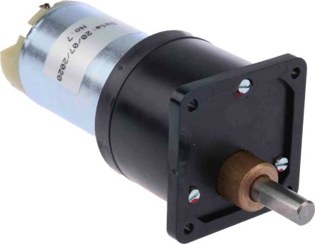 RS PRO , 12 V dc, 600 mNm, Brushed DC Geared Motor, Output Speed 5 rpm