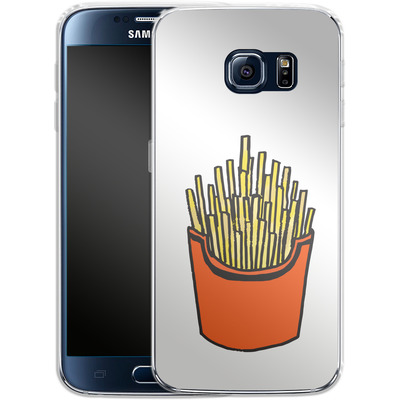 Samsung Galaxy S6 Silikon Handyhuelle - Fries von caseable Designs