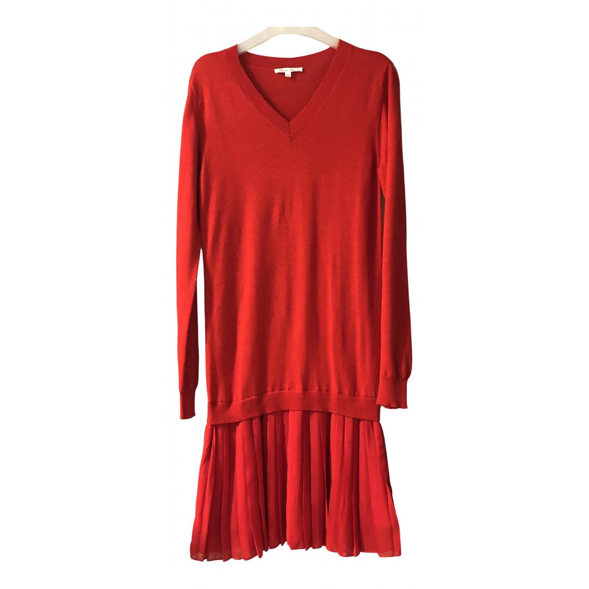 Les Petites N Red Wool dress for Women 38 FR