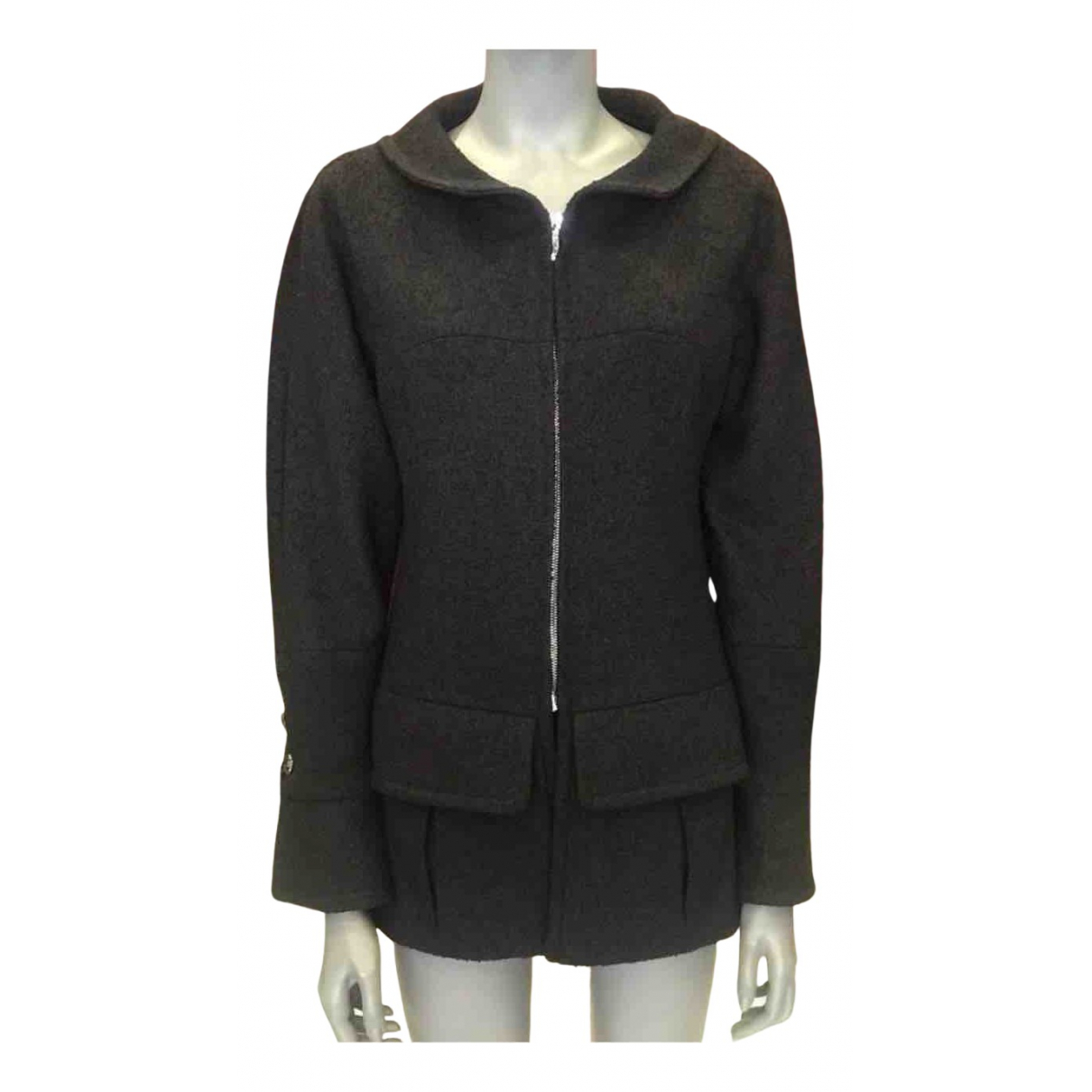 Chanel N Black Tweed jacket for Women 36 FR