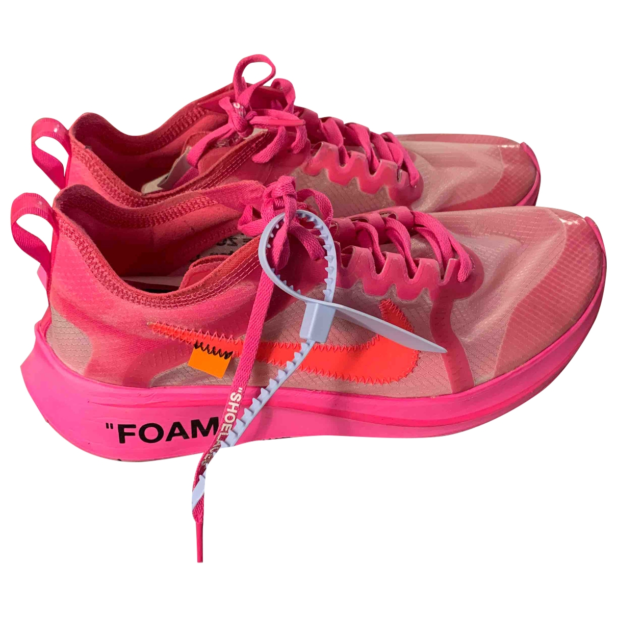 Nike X Off-white Zoom Fly Sneakers in  Rosa Leinen