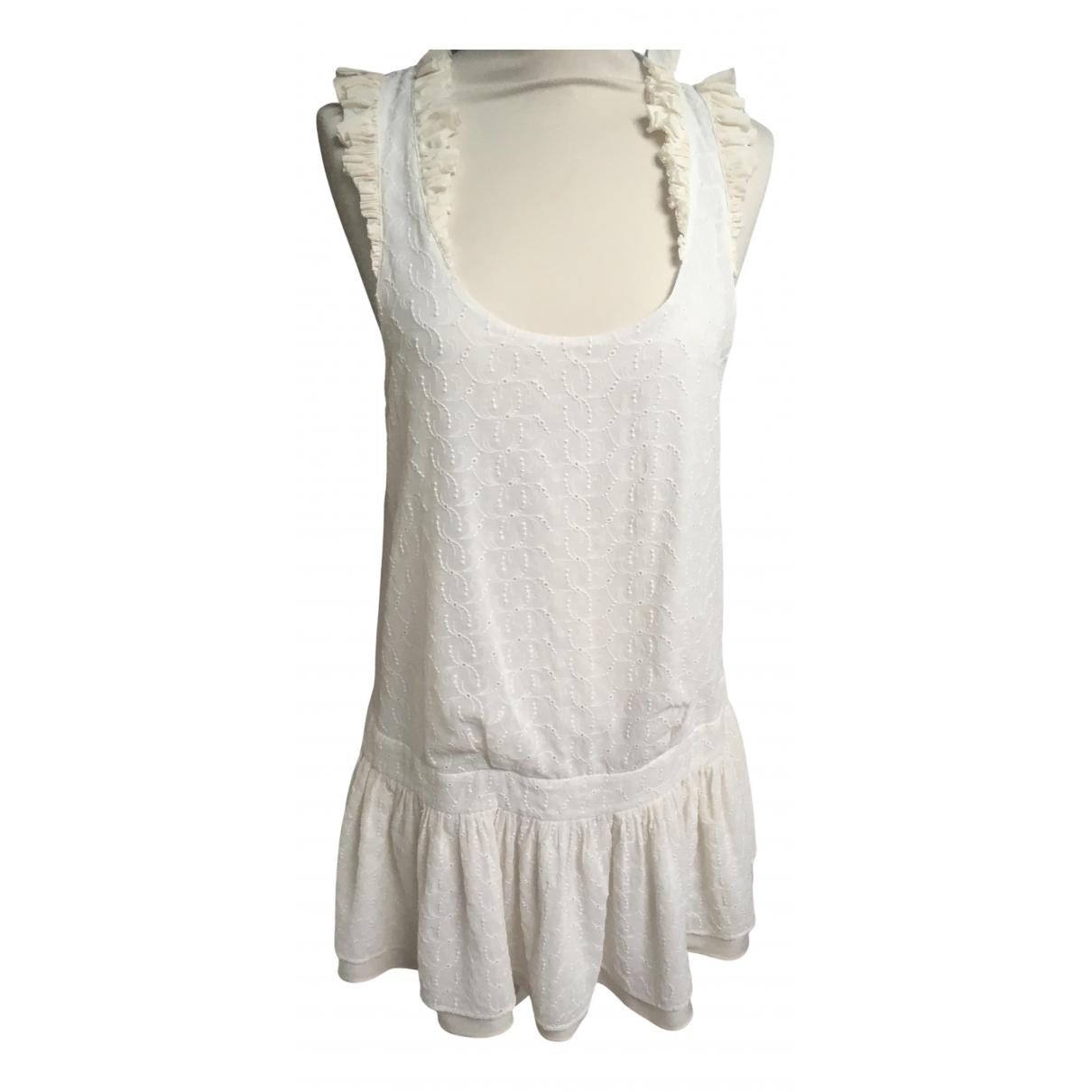 Maje Spring Summer 2019 Kleid in  Ecru Polyester