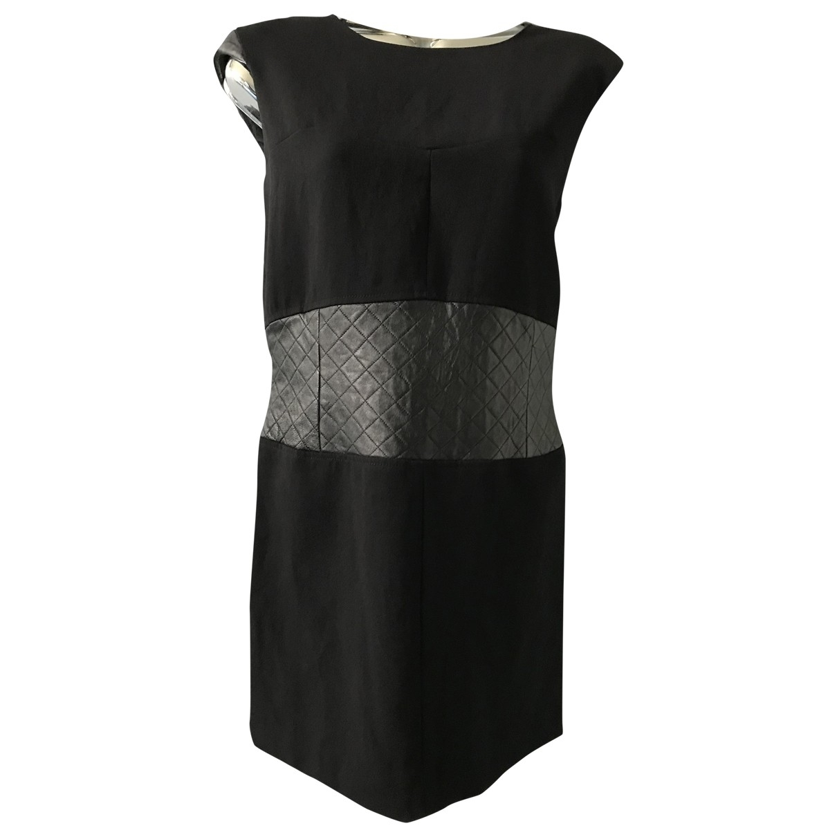 The Kooples - Robe   pour femme en cuir - noir