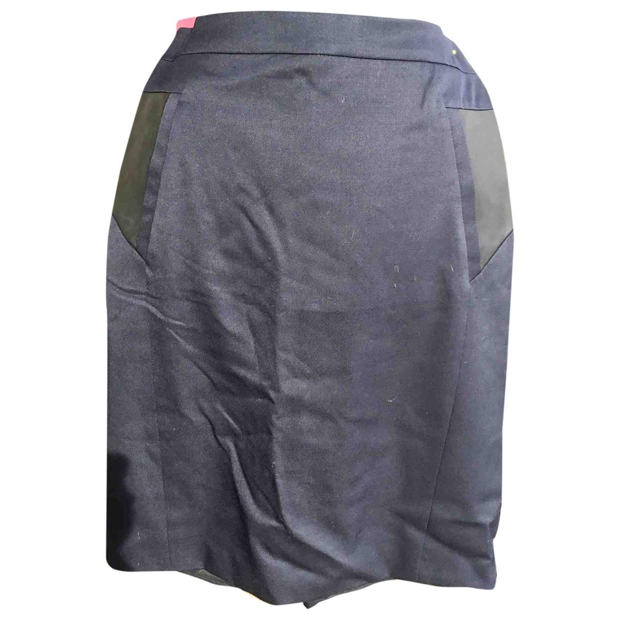 The Kooples \N Blue Wool skirt for Women 42 FR
