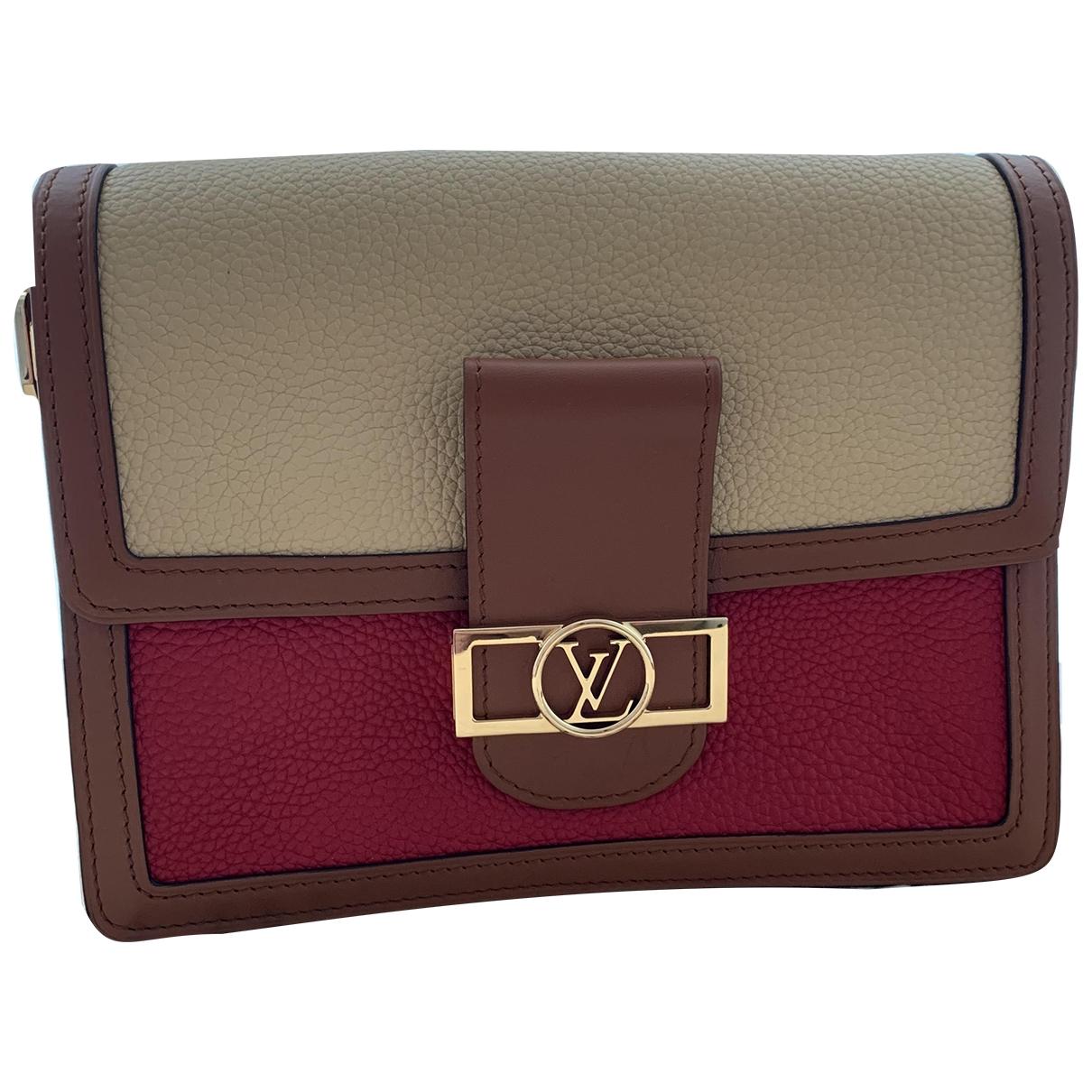 Louis Vuitton - Sac a main Dauphine MM pour femme en cuir - beige