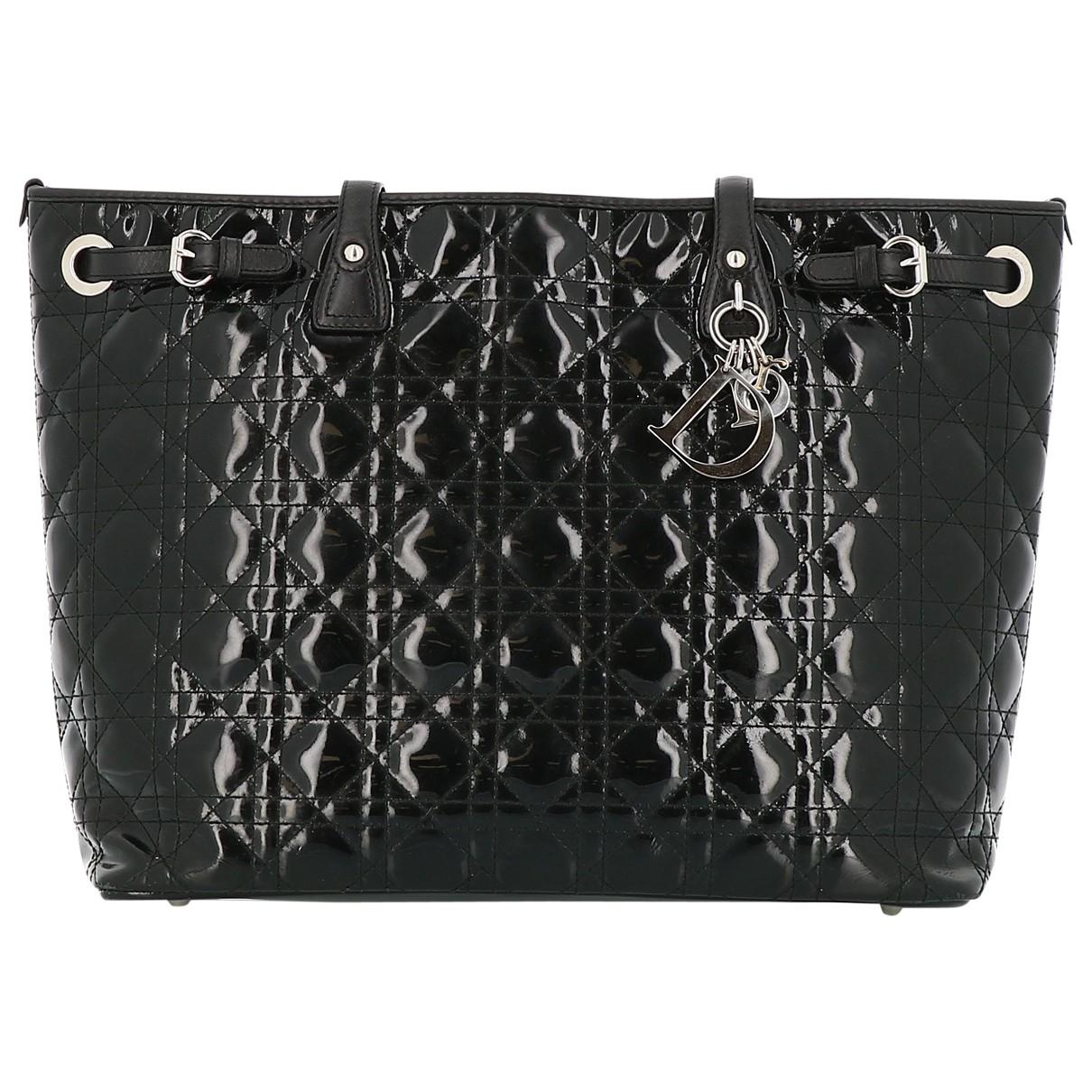 Dior Dior Panarea Black Patent leather handbag for Women \N
