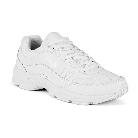 Fila Memory Workshift Mens Slip-Resistant Work Shoes, 8 1/2 Medium, White