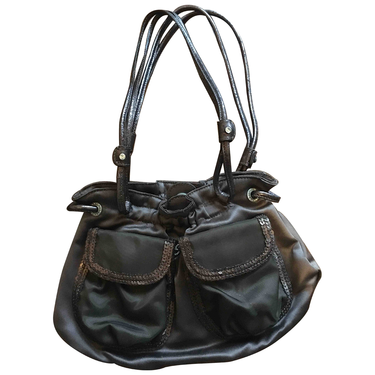 Blumarine \N Brown Silk handbag for Women \N