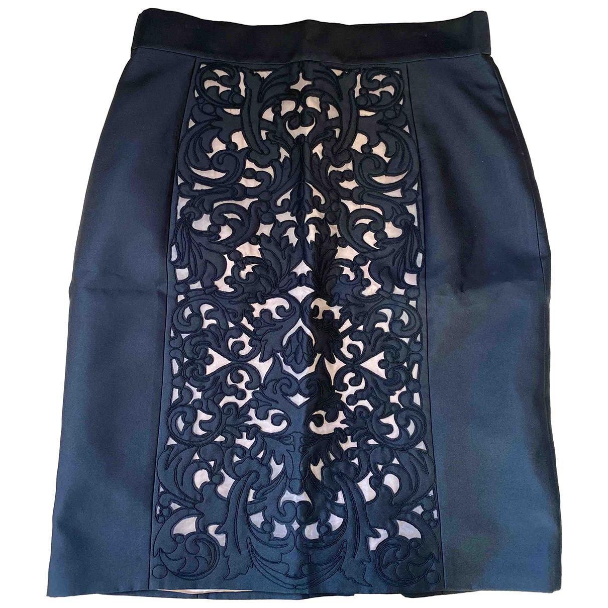 Temperley London N Black Silk skirt for Women 16 UK