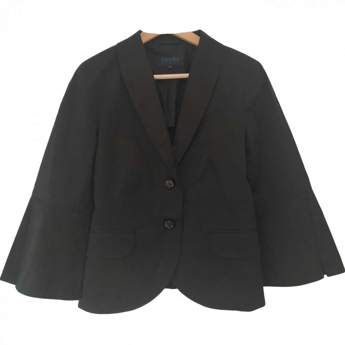 Escada - Veste   pour femme en coton - noir