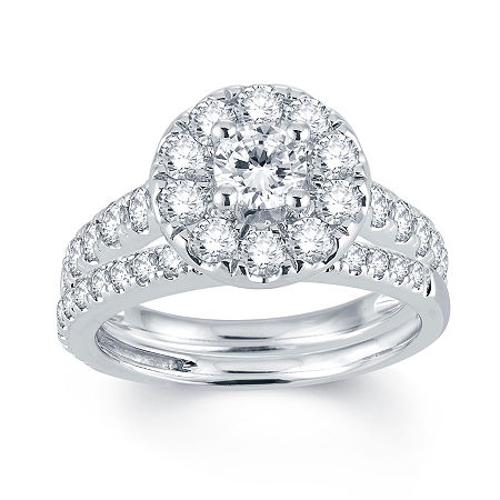 Modern Bride Signature 2 CT. T.W. Diamond 14K White Gold Engagement Ring, 5 1/2 , No Color Family