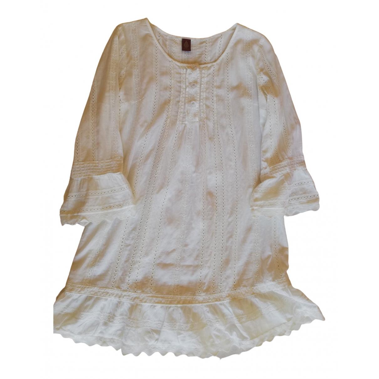 Dondup \N Kleid in  Weiss Baumwolle