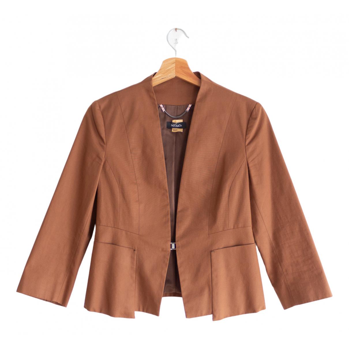 Max & Co - Veste   pour femme en coton - marron