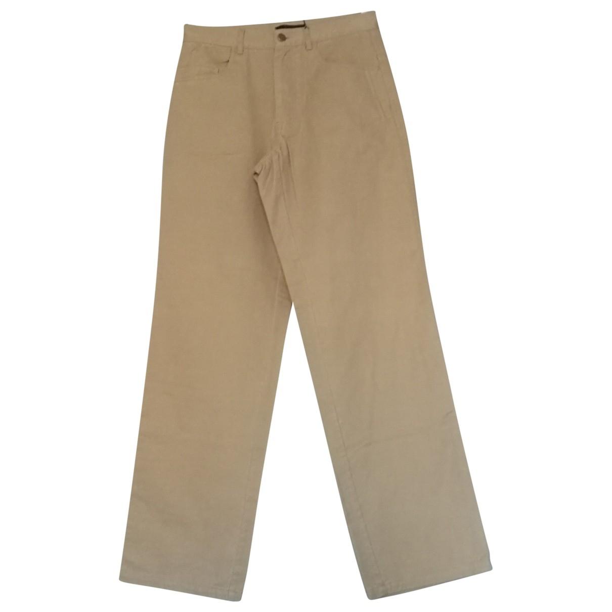 - Pantalon   pour homme en coton - beige